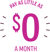 pay as little as 4 dollars a month